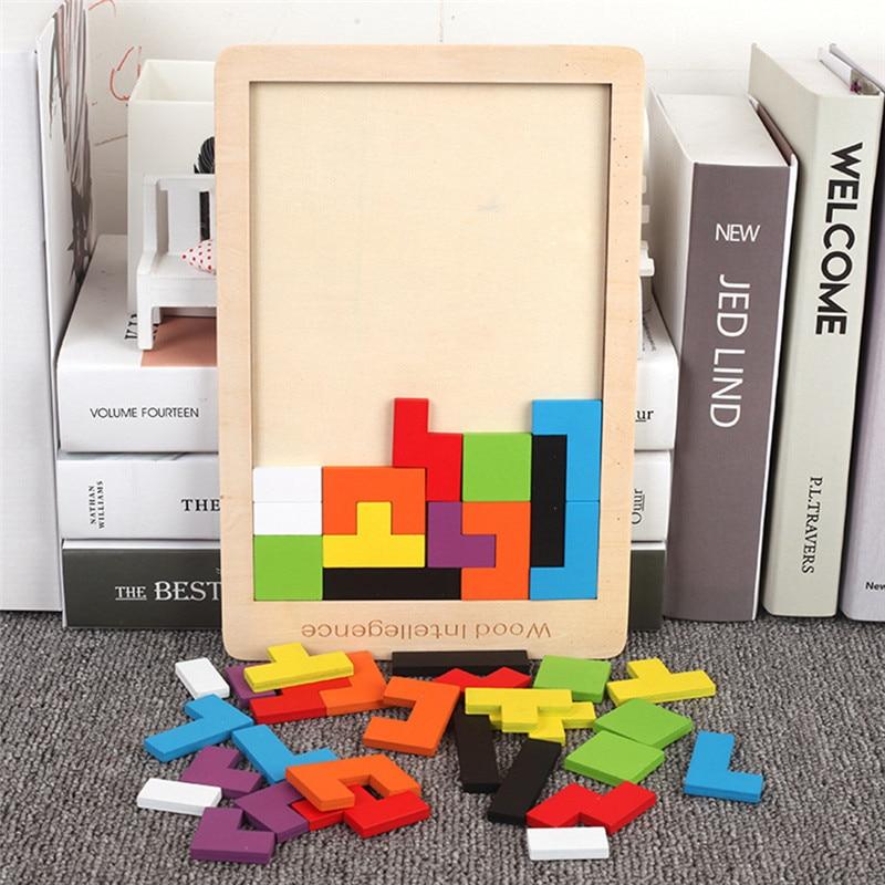 Wooden 3D Tetris Puzzle