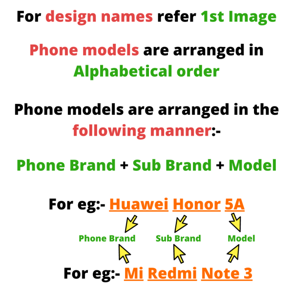 Design and phone model guide