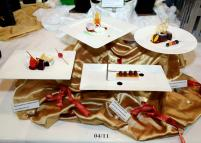 (c) BURJUMAN WORLD FOOD FESTIVAL THE DISHES BY COMPETING CHEF ON DISPLAY FOR THE VISITORS AND THE JUDGES.