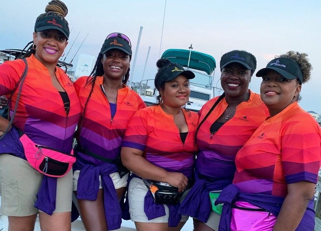 black female fishing team
