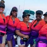 black female fishing team