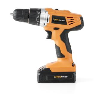 724ed primecables cab cd304 2 tools testers 20v cordless power drill with soft grip handle primecables