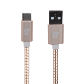 29afb primecables cab u2ac rg usb 2 0 primecables usb 2 0a to usb c charging sync mental braided cable rose gold