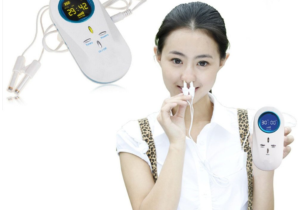Medical instrument allergic rhinitis and nasal polyps and sinusitis home laser therapy