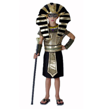 Halloween Costumes Cosplay Clothing Boy Girl Ancient Egypt Egyptian Pharaoh Cleopatra Prince Princess Costume for Children Kids
