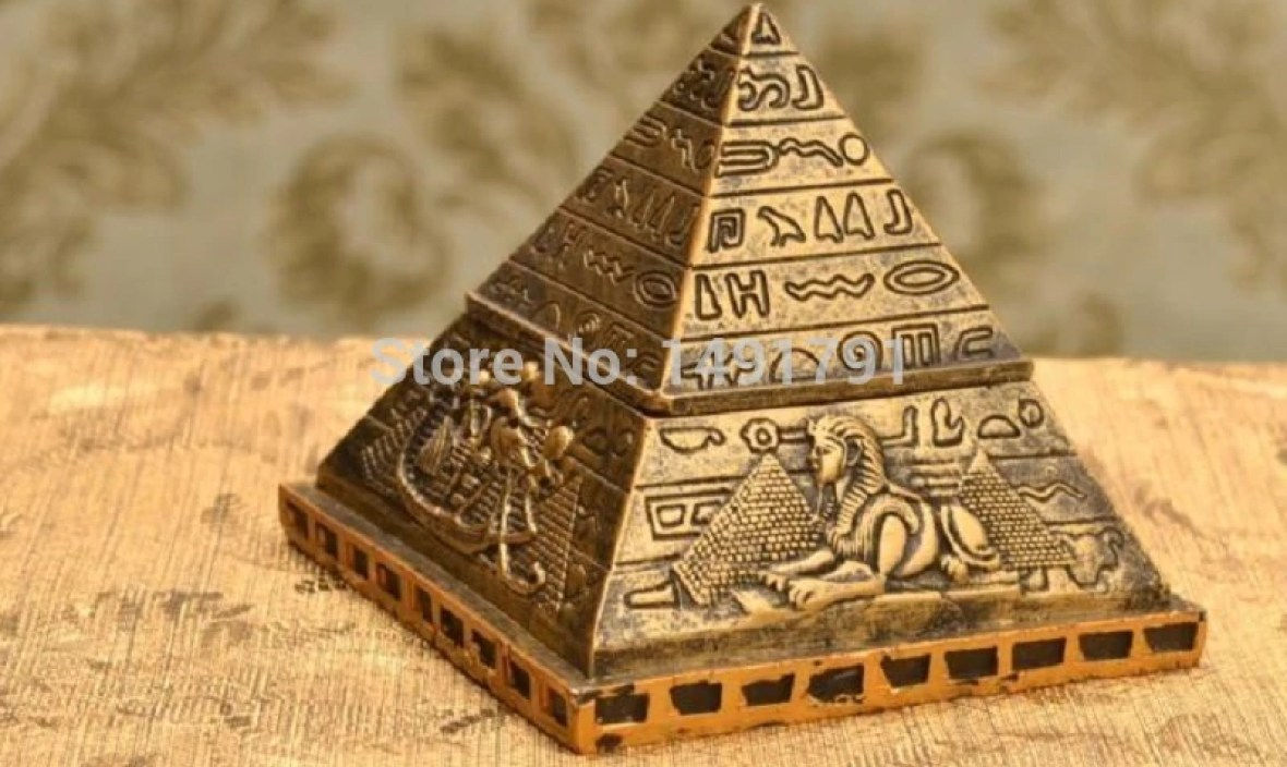 Decoration Egypt theme Pyramid box coffin mummy statue pharaoh sarcophagus ANCIENT EGYPT Real life escape game props