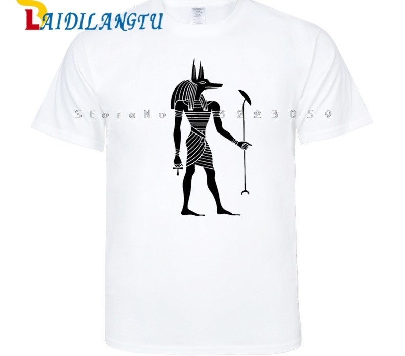 Fashion Eye of Horus Ancient Egypt legend Anubis Pharaoh short sleeve t shirt streetwear Egypt tourism Tee clothes