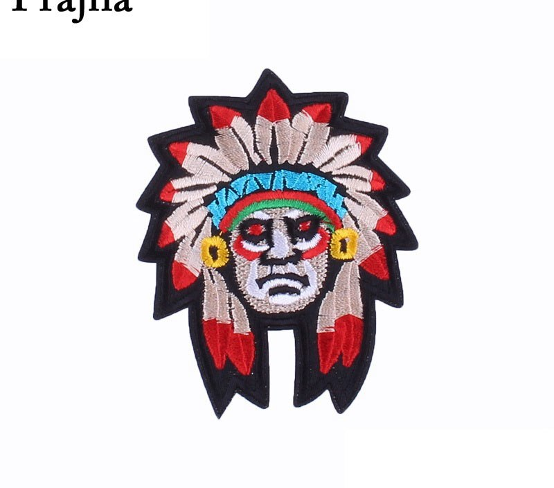 Prajna Egypt Style Iron On Patch Ancient Egypt Mummy Appliques Cleopatra Embroidered Stickers On Clothing Motorcycle Jeans DIY
