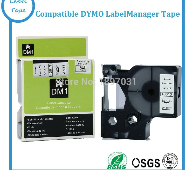 Sale Big sales 43613 Compatible Dymo D1 6MM Label Printer Black on White Label Maker