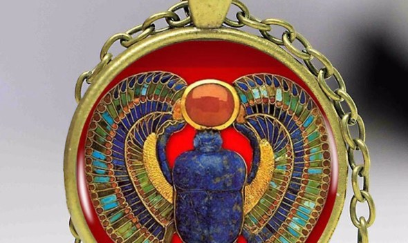 2018 Fashion Egyptian Scarab Necklace, ancient egypt jewelry Egypt necklace Egyptian jewelry For Women,3colors for choosing