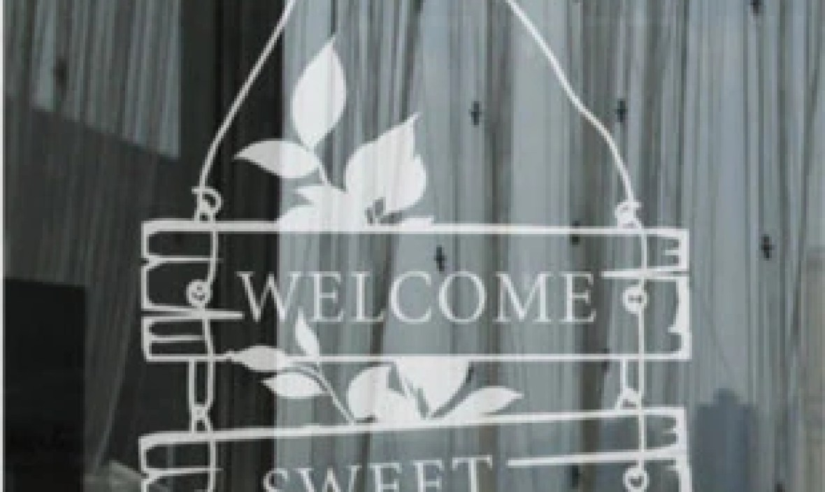 Home Design Wall Sticker Door Sticker Welcome Sweet Home Lettering Mural Art Wall Decal Room Home Decoration