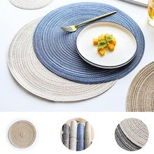 Home design rug ramie insulation pad round tablecloths linen tablecloths kitchen accessories decoration coasters for the home