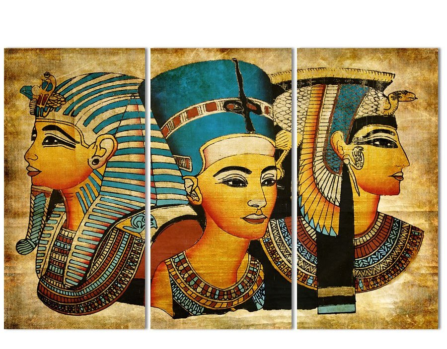 3pcsset 5D DIY Diamond Painting Pharaoh Of Ancient Egypt Full Square 5d Diamond Embroidery Cross Stitch painting Home Decor