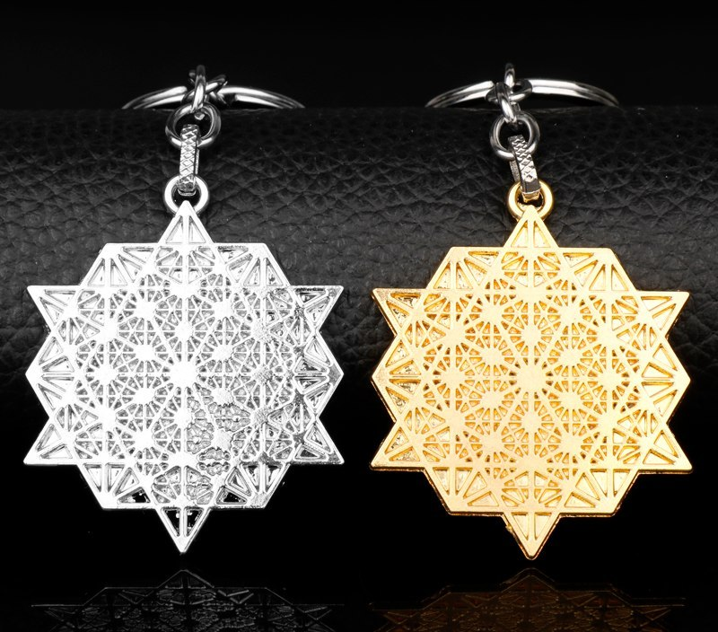 2018 New Arrivals Fashion Jewelry Ancient Egypt Hollow Flower of Life Pendants Key Chains Keyrings chaveiro