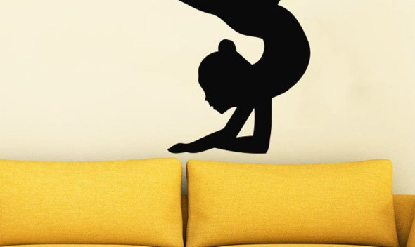 Gymnast Sport Girl Wall Decals Vinyl Removable Wall Sticker For Kids Rooms Wall Art Home Design Adesive De Parede Poster A265
