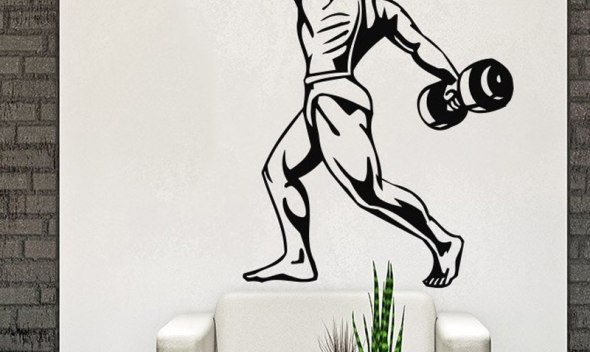 Body-Building Wall Decal Sports Athlete Wall Stickers for Kids Room Bedroom Home Design Muursticker Vinilos Paredes Gym Art A280