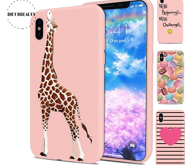 Animal Long Deer Streak Love Medical Instruments Simple Silicone Pink DIFFRBEAUTY Phone Case For iPhoneX 8 8Plus 6S 7 6Plus 5SE