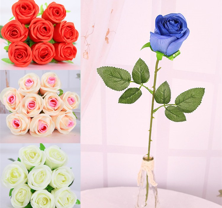 Real Touch Rose Artificial Flowers Silk For wedding Home Design Bouquet Decoration Products Supply Home decorations for Wedding