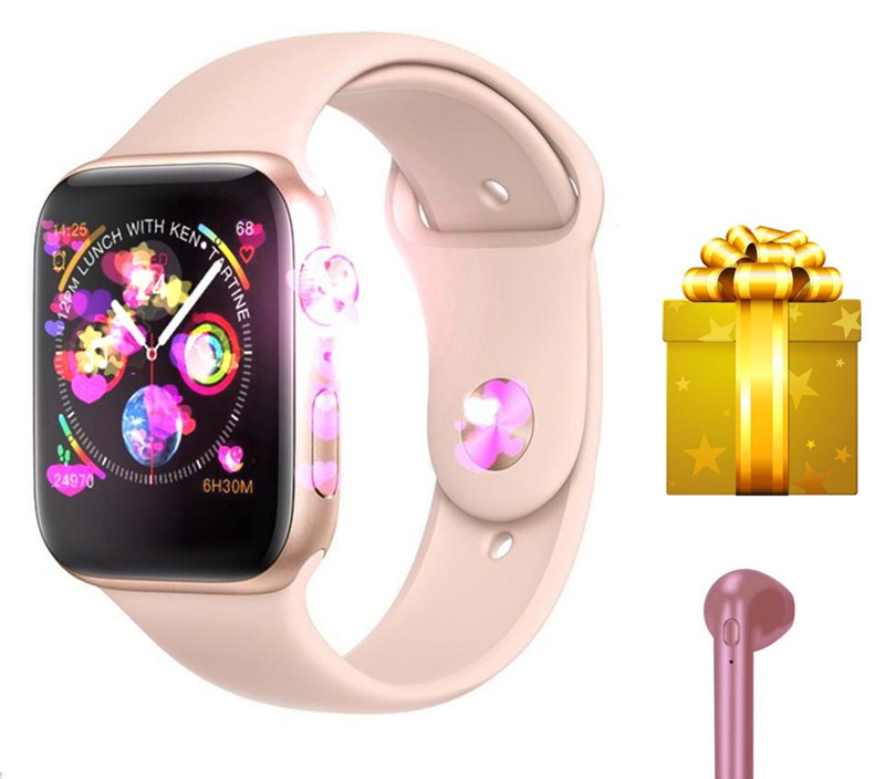 Smart watch iwo 8+bluetooth earphone/set smartwatch women for iphone watch support answer reject call ECG android smart watch