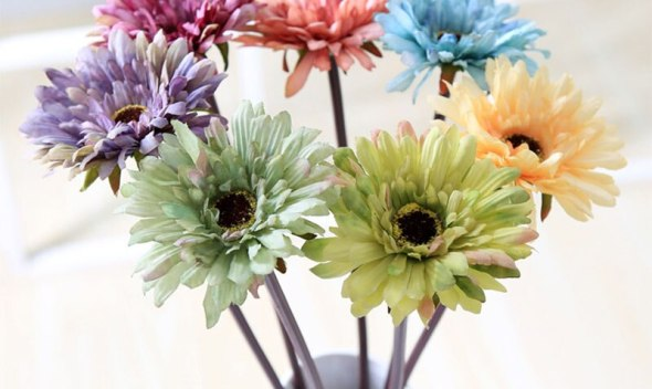 Sale 1pc European Style Artificial Flowers Decorative Silk Sun Flower Home Floral Decor Party Flower Arrangement