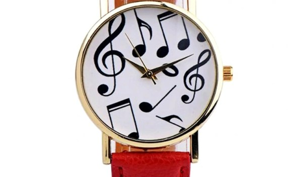 Sale Piano Musical Notation Retro Casual Quartz Watch Female PU Leather Women Watches Wholesale Relogio Feminino Drop-Shipping