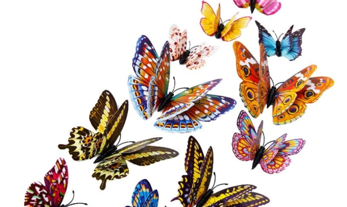 Apr 29 Mosunx Business  12pcs 3D Butterfly Design Decal Art Wall Stickers Room Magnetic Home Decor