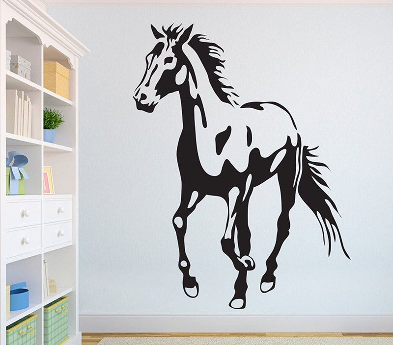 Horse Beautiful Wolves Wall Decal African Wild Lion Pride Animals Home Interior Design Art Office Murals Home Decoration A3-006