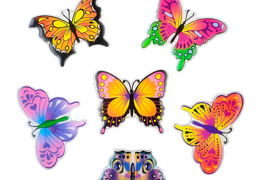 12pcs 3D Butterfly Fashion Design Home Fridge Decal Art Wall Stickers Kids Bedroom Magnetic Home Decor