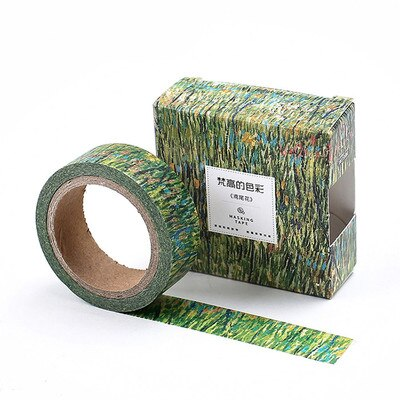 1.5cm 7m 1 pcs Famous oil paintings Irises design washi tape Adhesive DIY Scrapbook Sticker Label Masking home decor