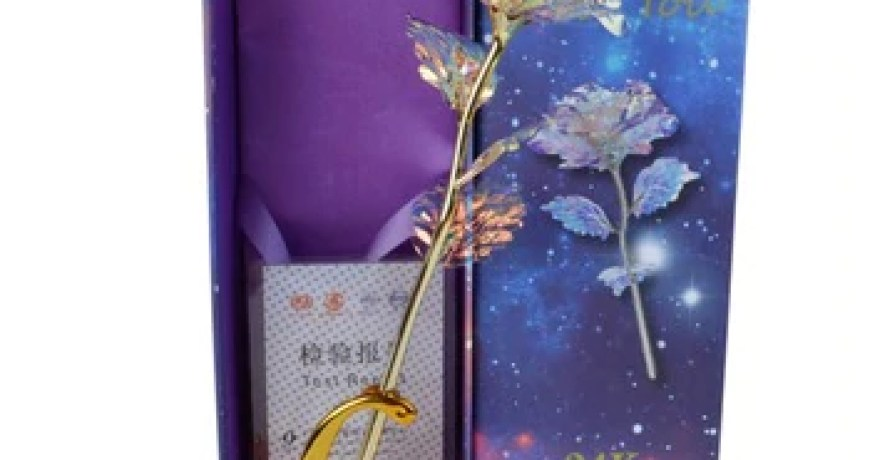 For Light Star Gold Foil Rose Mother's Day Valentine's Day Present Gift Gold Plated Rose Flower Holiday Wedding Party Decoration