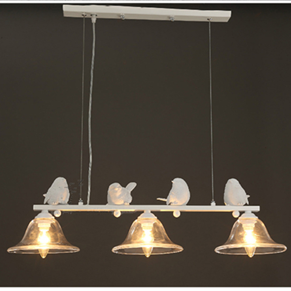 Wonderland White 4 Birds 3 heads Simple Nordic Style Lamp Warm Sweet Pendant Light Lamp Creative Home Design Living Room PL-224