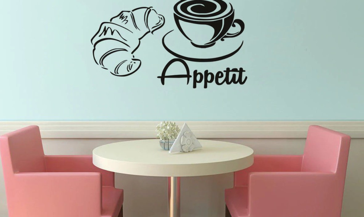 Coffee With Beard Vinyl Wall Stickers Waterproof Wall Decal Home Design Wallpaper For Coffee Shop Kitchen  Stickers SA123