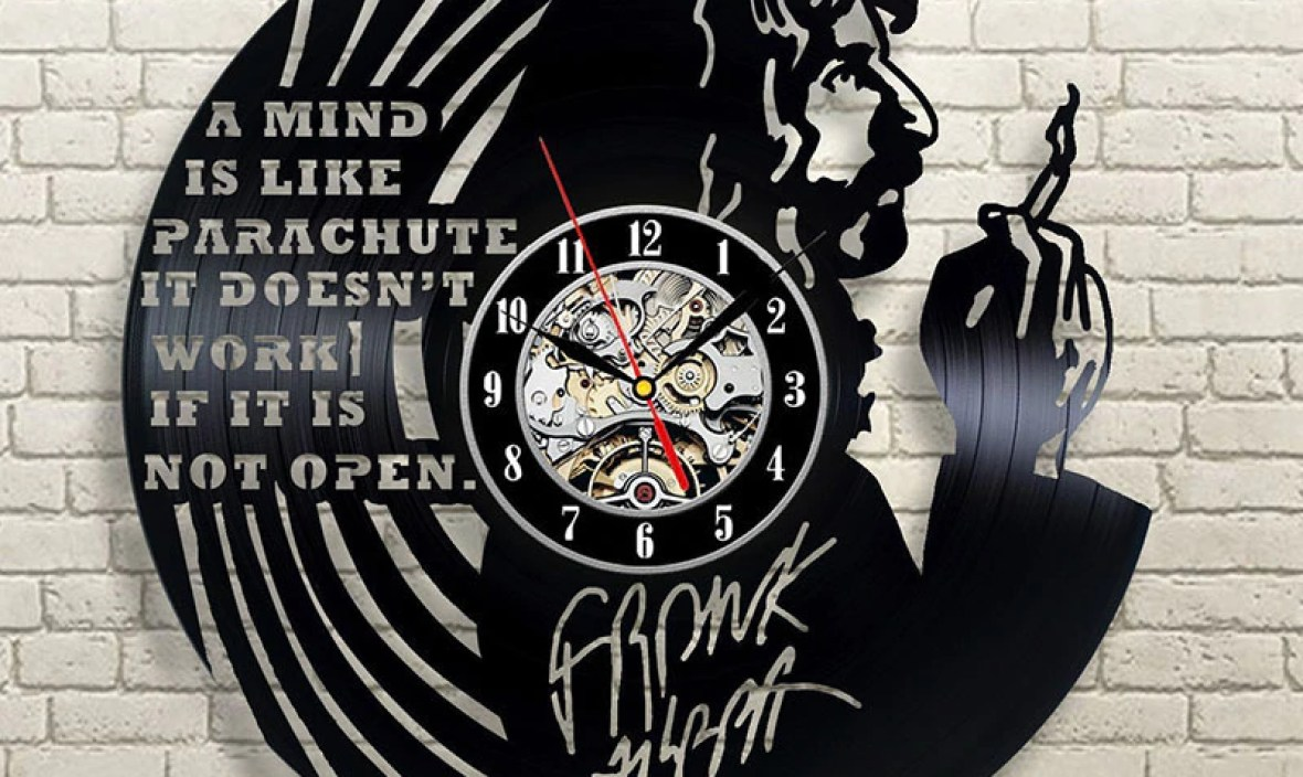 2019 Real New Arrival 12 Mm Sheet Europe Klok Horloge Murale Saat Free Shipping Frank Zappa Vinyl Home Design Record Wall Clock