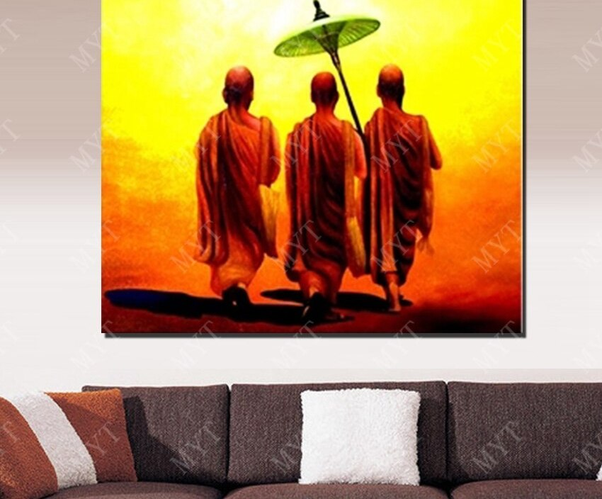Southeast Asia landscape picture  hand  paitned modern figure wall art painting home designer  decor
