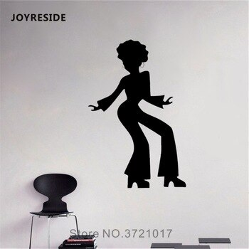 JOYRESIDE African Style Sticker High heels Decals Vinyl Wall Beauty Salon Woman Face Bedroom Living room Home Design Mural A1381