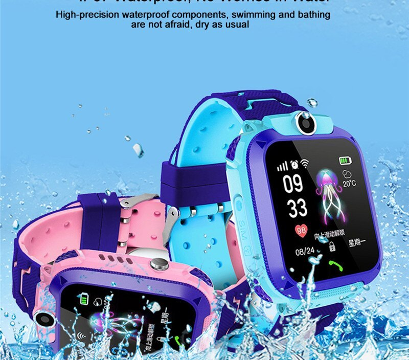 Smart Watch Q12 Kids Smart Phone Watch for Children Student 1.44 Inch Waterproof Student Smart Watch Dial Call Voice Chat