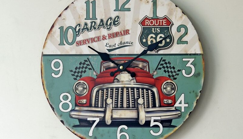 35cm Large Vintage Creative Modern 3d Design Wooden Wall Clock Round Home Design Chinese