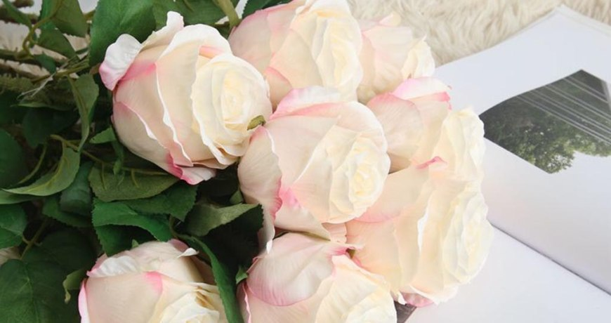 2019 New Flannel Rose Flowers For Wedding Party Home Design Bouquet Decor Home Decoration Artificial flower#30