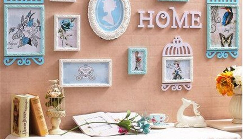 New European Style Home Design Wooden Picture Frame Set Wall Decoration Wood Photo Frame for Home Decoration Wedding Photo Frame