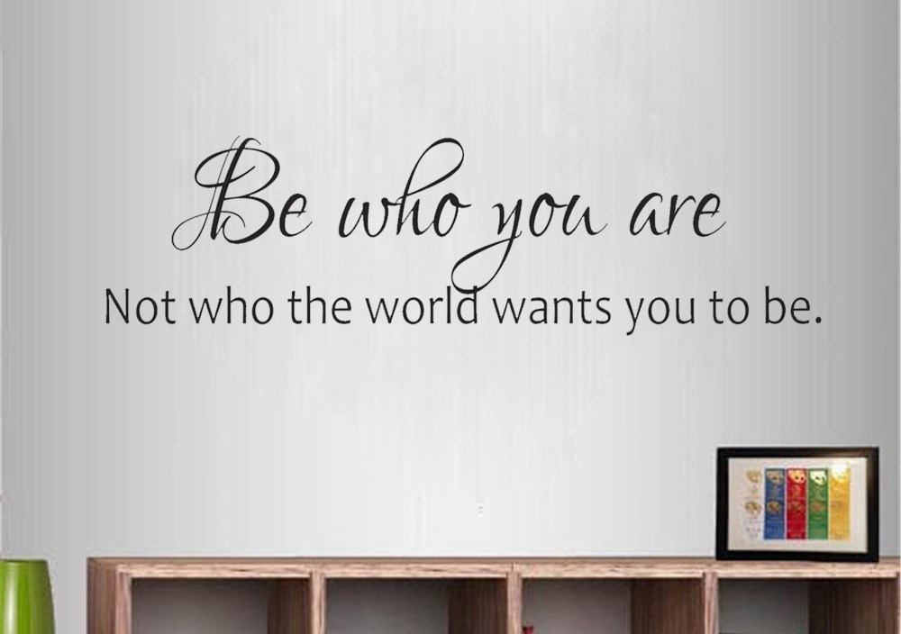 JOYRESIDE Inspirational Quote Wall Sticker Be Yourself Decals Vinyl Interior Decor Teen Room Living room Home Design Mural A1260