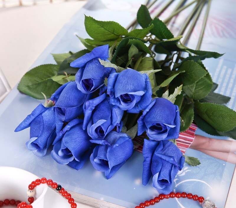 Wedding Home Design Bouquet Decoration Artificial Flowers Rose Decoration Flowers Rose Artificial Flowers Silk