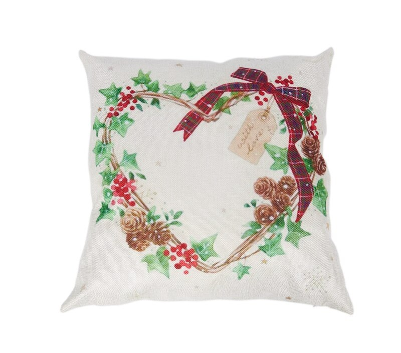 Merry Christmas Pillow Case Leaf Xmas 18 X 18 Inch Merry Chritmas Home  Design Throw Pillow Cover Pillow Ca