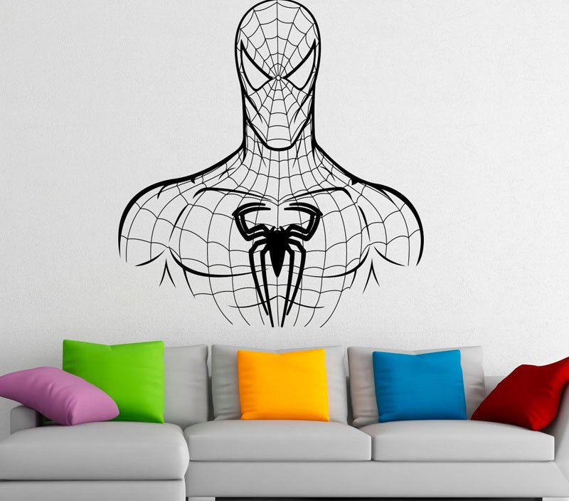 Spiderman Decal Vinyl Wall Stickers Comics Superhero Interior Home Design Wall Art Murals Bedroom Decor Kids Room Wallpaper 3421