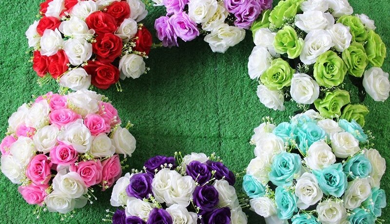 30cm Artificial Silk Flower Wedding Road Lead Rose Flower for wedding Party Home Design Bouquet Decor Rose Flower Party Supplies