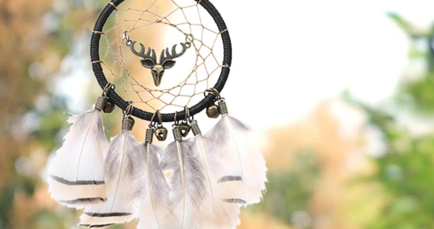 Indian Feather Home Design Handmade Dream Catcher With Rattan Bead Feathers Wall Car Hanging Decoration Ornament For Gifts J3