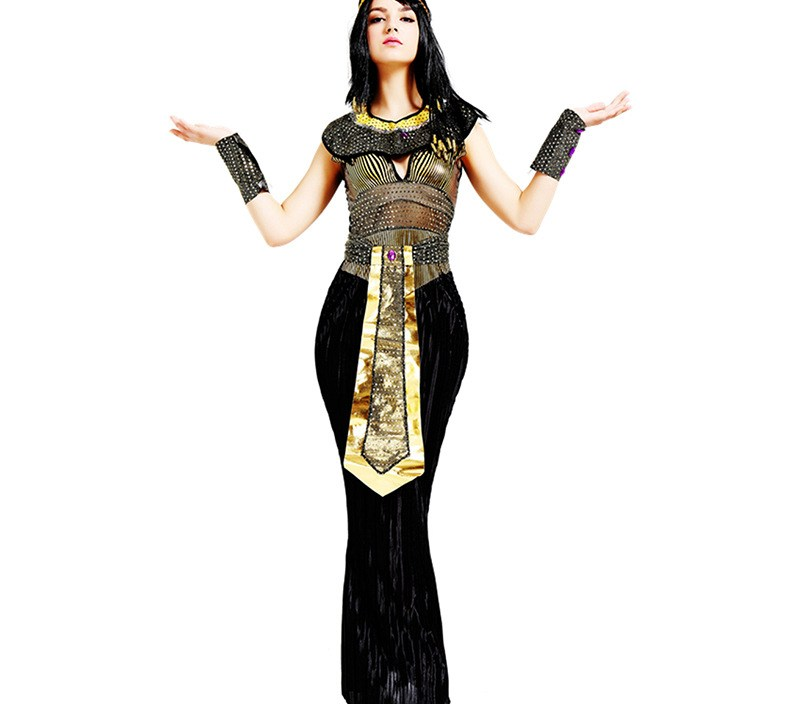 M-XL Ancient Egypt Egyptian Pharaoh Cleopatra Princess Costume Queen Of the Nile Cosplay Clothing Adult Halloween Fancy Dress