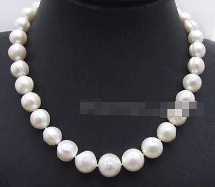 SALE Big 9-10mm Pink Round Natural freshwater PEARL 17″ Necklace-nec6063