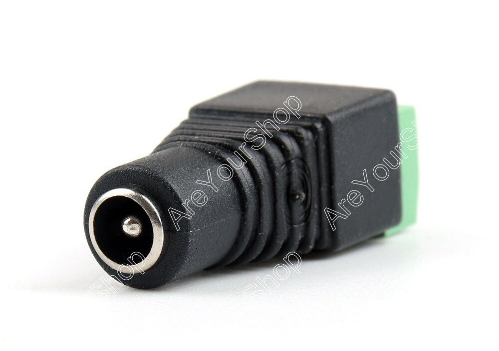 Sale 100 Pcs 5.5 X 2.1mm DC Power Plug Female Barrel Plug Adapter Terminals For CCTV Camera High Quality minijack plug