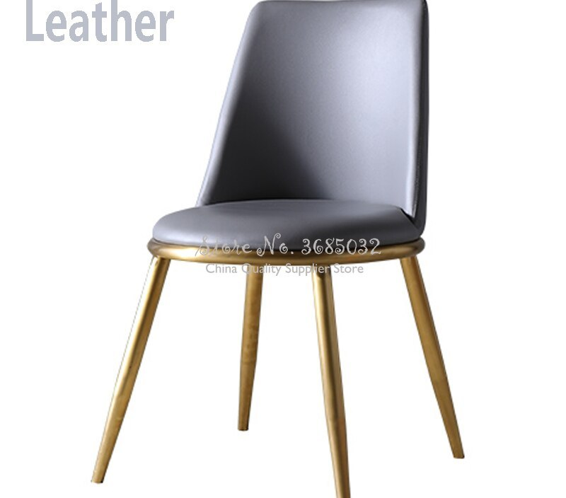 Luxury Golden Dining Chair Stainless Steel Stools for Hotel Cafe Bar  Modern Home Designer Chairs Livingroom Chairs