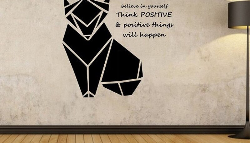 Origami Fox Wall Decal Geometric Animal Quote Vinyl Wall Sticker For Living Room Home Design Mural Vinilos Paredes Wall Art A392